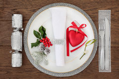 Christmas Bling Place Setting Stock Photography