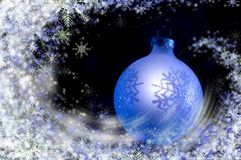 Christmas blizzard stock photo