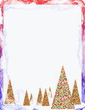 A Christmas Blizzard Design Royalty Free Stock Image
