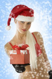 Christmas blond beauty Royalty Free Stock Photos