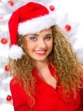 Christmas Blond Chick Stock Photo