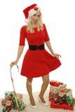 Christmas blond stock photo