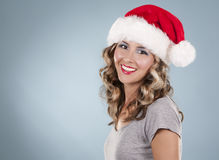 Christmas blond woman Royalty Free Stock Photography