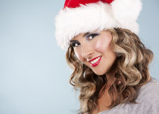 Christmas blond woman Royalty Free Stock Images