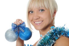 Christmas blonde Stock Photo