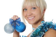 Christmas blonde Stock Photo