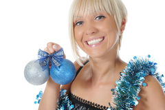 Christmas blonde Stock Photos