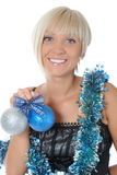 Christmas blonde Royalty Free Stock Photography