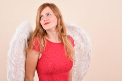 Christmas blonde angel Royalty Free Stock Photos