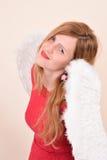 Christmas blonde girl angel Stock Photos
