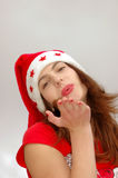 Christmas blow kiss Stock Image