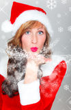 Christmas blow snow wishes Stock Photos