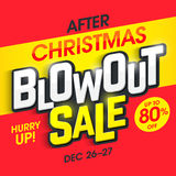 After Christmas Blowout Sale Royalty Free Stock Photography