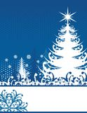 Christmas Blue Stock Image