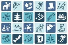 Christmas blue Stock Photo