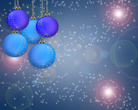 Christmas in blue Royalty Free Stock Photo
