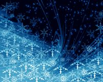 Christmas blue abstract Royalty Free Stock Photography