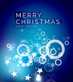 Christmas blue abstract background Royalty Free Stock Images