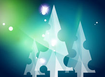 Christmas blue abstract background  Royalty Free Stock Photo