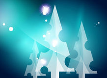 Christmas blue abstract background  Royalty Free Stock Photography