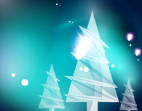 Christmas blue abstract background Stock Image