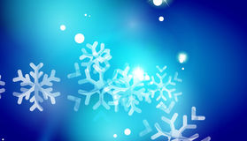 Christmas blue abstract background Stock Images