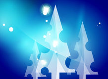Christmas blue abstract background Stock Photo