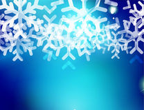 Christmas blue abstract background with white Royalty Free Stock Image