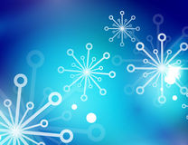 Christmas blue abstract background with white Stock Photography