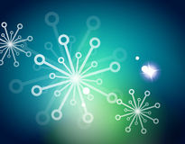 Christmas blue abstract background with white Stock Images