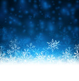 Christmas blue abstract background. Blue winter abstract background. Christmas background with snowflakes. Vector Royalty Free Stock Photo
