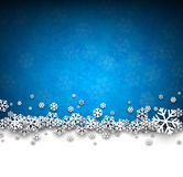 Christmas blue abstract background. Blue winter abstract background. Christmas background with snowflakes. Vector Royalty Free Stock Images