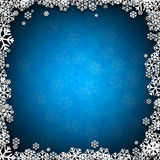 Christmas blue abstract background. Blue winter abstract background. Christmas background with snowflakes. Vector Royalty Free Stock Image