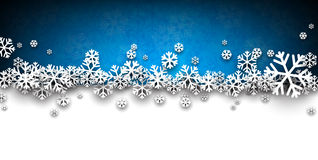 Christmas blue abstract background. Blue winter abstract background. Christmas background with snowflakes. Vector Royalty Free Stock Photos