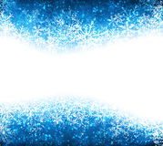 Christmas blue abstract background. Blue winter abstract background. Christmas background with snowflakes. Vector Stock Images