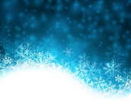 Christmas blue abstract background. Blue winter abstract background. Christmas background with snowflakes. Vector Royalty Free Stock Photography