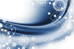 Christmas blue abstraction Stock Photos