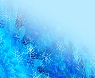 Christmas blue background. Christmas blue  abstraction background with snowflakes Stock Photography