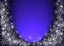 Christmas blue background stock image