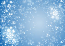 Christmas blue background. With snowflakes Royalty Free Stock Photo