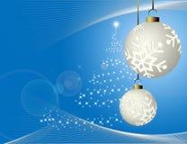 Christmas blue background Royalty Free Stock Photos