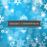 Christmas blue background Stock Images