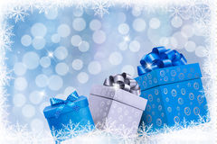 Christmas blue background Royalty Free Stock Image