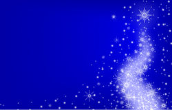 Christmas blue  Background. Christmas Background - Abstract Xmas Illustration, Vector Stock Photo