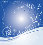 Christmas blue background. Christmas background. Element for design, vector illustration Stock Photos