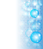 Christmas blue background. With baubles Stock Photos