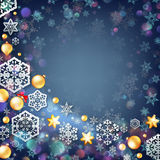Christmas blue background with baubles. EPS 10 Stock Image