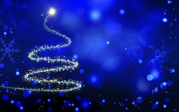 Christmas  blue background Stock Photography