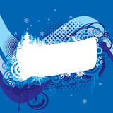 Christmas blue background design. With wood,wave and snowflake Royalty Free Stock Photos
