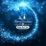 Christmas blue background stock illustration